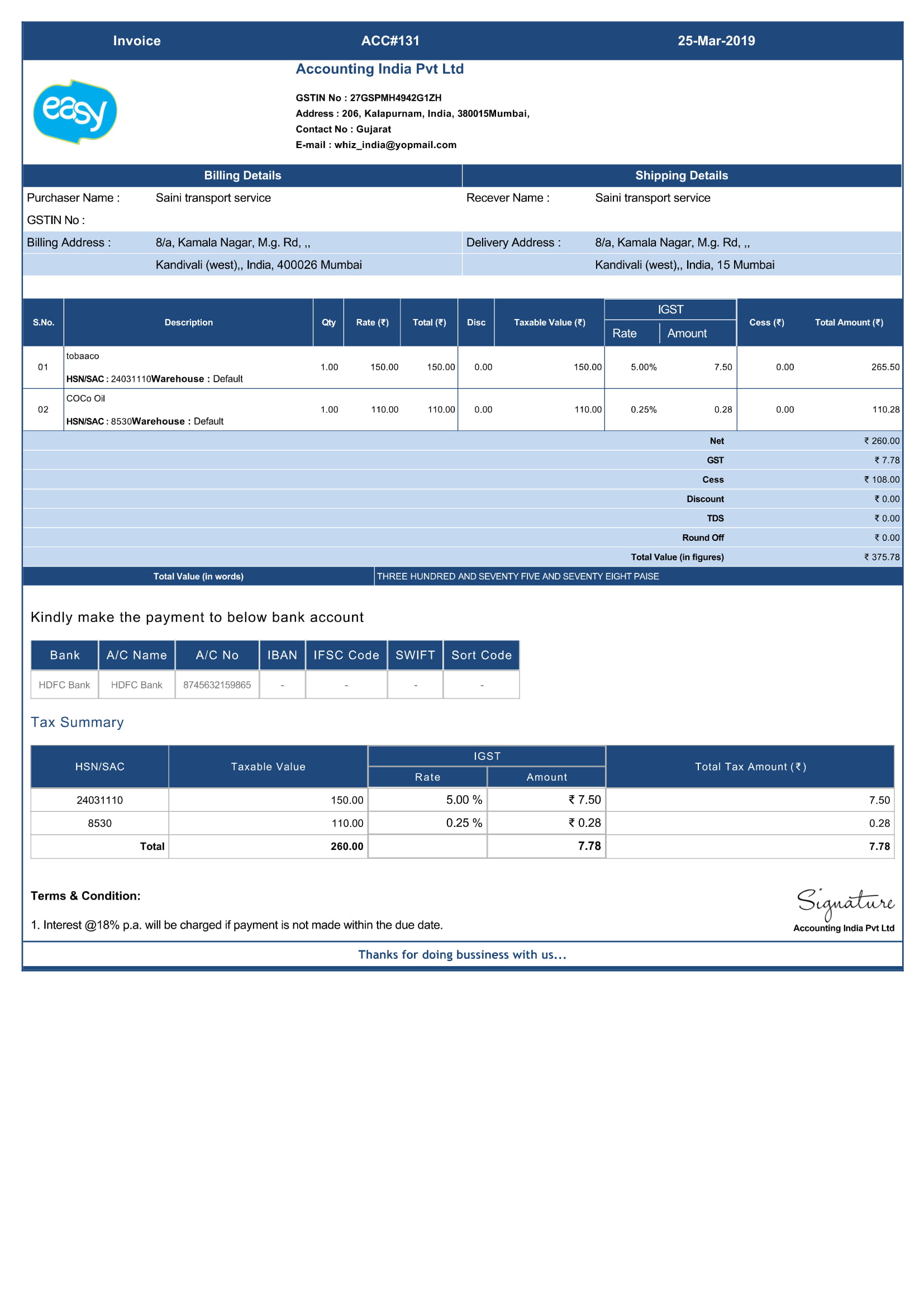 GST Invoice Billing Software India | Free Invoicing Software